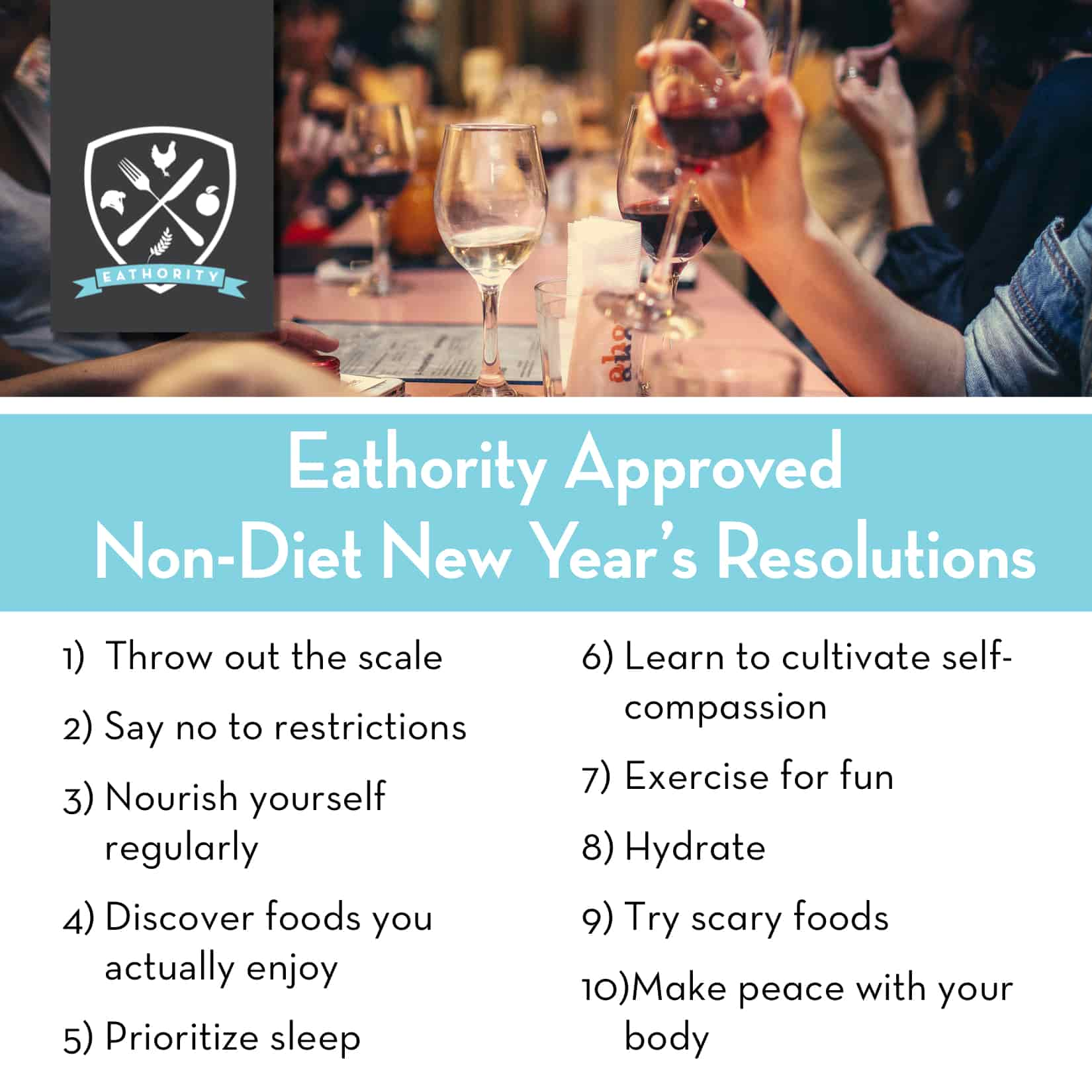Non-Diet New Year's Resolutions by Eathority, Intuitive Eating Coach