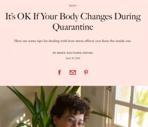 Press Allure Magazine Carolina Guizar intuitive eating coach